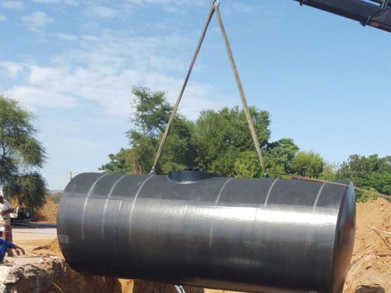 Horizontal Steel Tanks installation