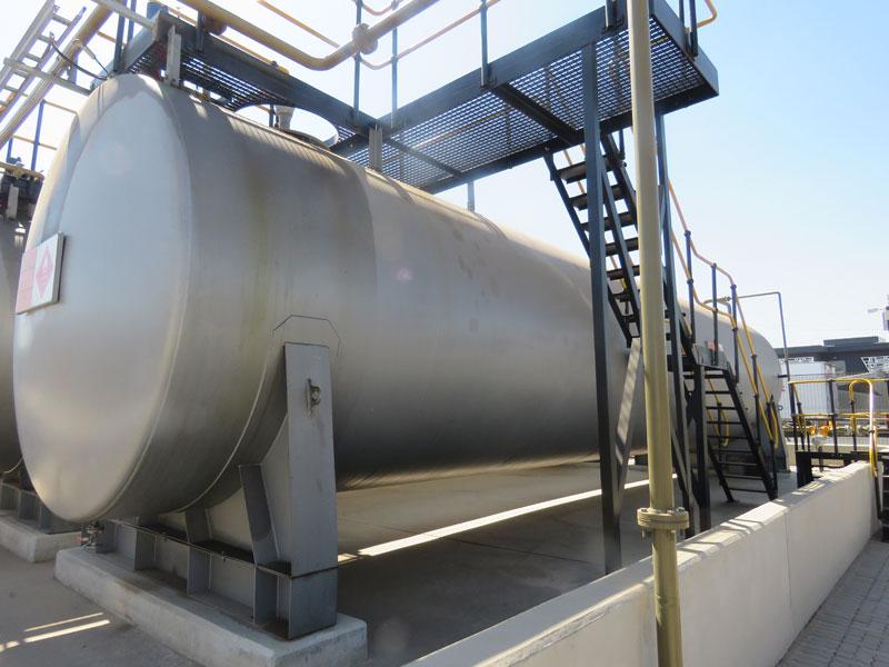 City Deep Aboveground Steel Tank installation