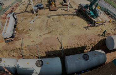 Verulam Underground Steel Tank installation