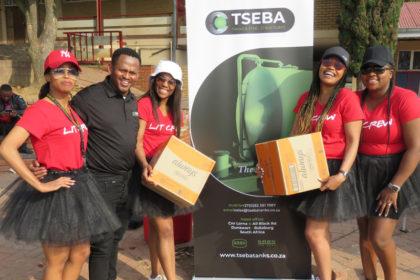 Tseba Sports Day - Donating Sanitary Towels